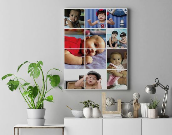 Customized Photo Canvas - Kids Collage Tiled.