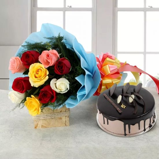 Mix Roses With Cake
