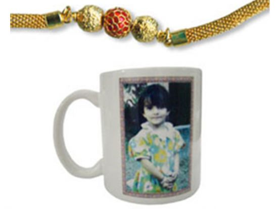 Rakhi with photo mug to Ahmedabad.