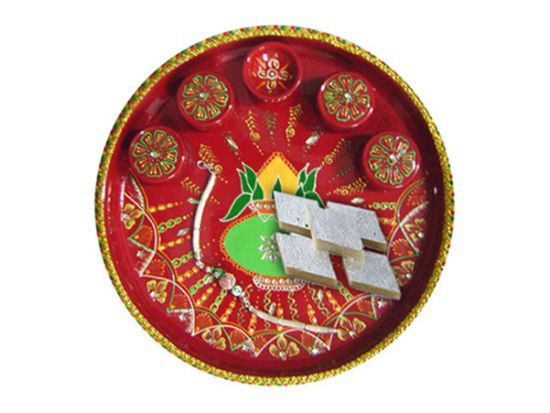 Gift rakhi thali for brother in Ahmedabad.