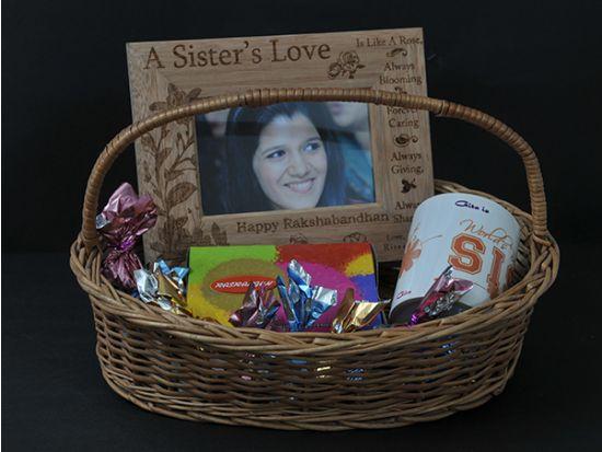 Return gift hamper for sister.