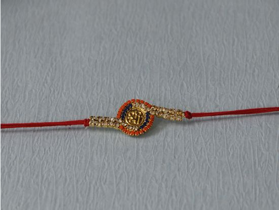Swastik/Shree Rakhi With Stones