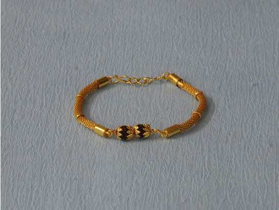 Gold and Silver plated Rudraksh rakhi