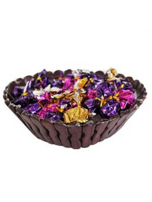 Chocolates In Small Cane Basket