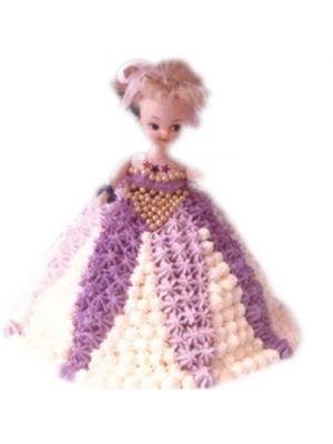 Barbie doll Shape Cake