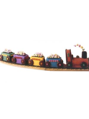 Train Shape Cake