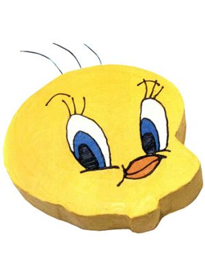 Tweety Shape Cake.