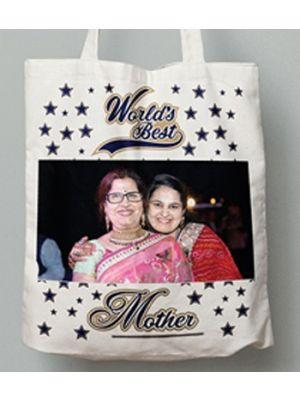 Photo Tote Bag. Design - World's Best Mom