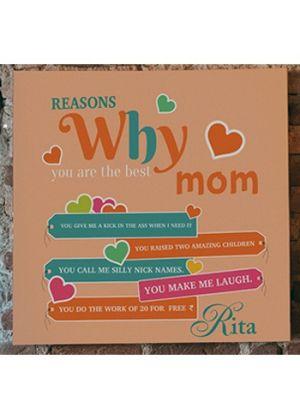 Custom made canvas for mother, Baroda