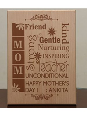 Wooden Plaque: Design - What is Mom ?