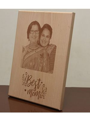 Engraved Photo Plaque: Best Mom