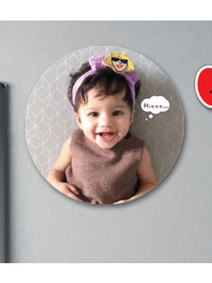 Round Fridge Magnet. Kid Design - I