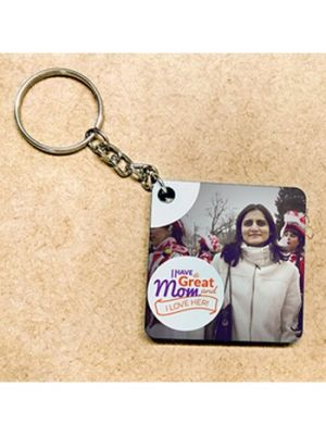 Photo Key Chain: Square Design - Great Mom