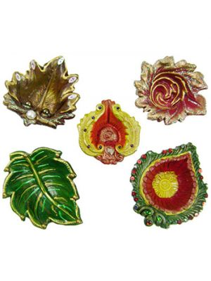 Decorative Diyas With Moti Work