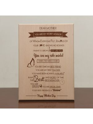 Engraved Plaque: Design - Secret Advisor