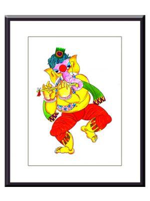 Frame: Dancing Ganesha