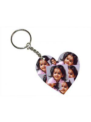 Heart Shape Wooden Keychains