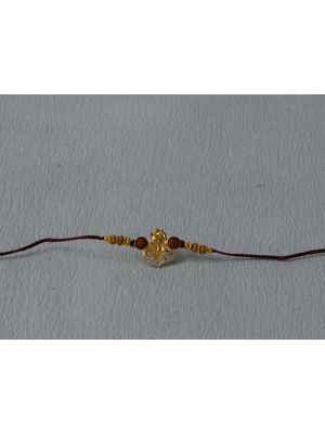 Gold Plated Ganesh Rakhi