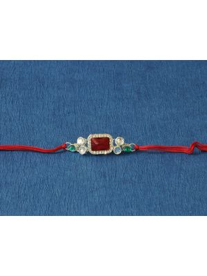 Rectangle Kundan Rakhi