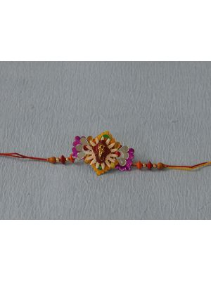 Zardosi Rakhi With Velvet Base