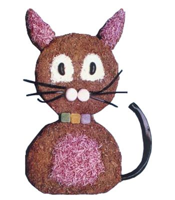 Cat Shape Cake.