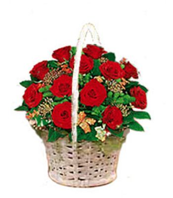 Red roses basket, Ahmedabad.