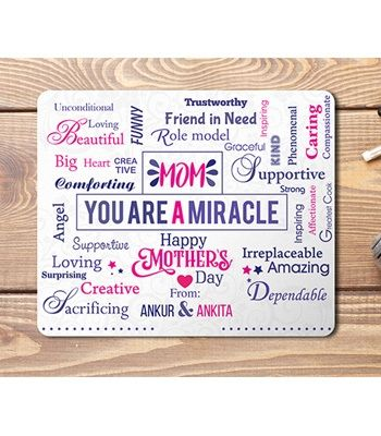 Mouse Pad For Mom. Design - Miracle