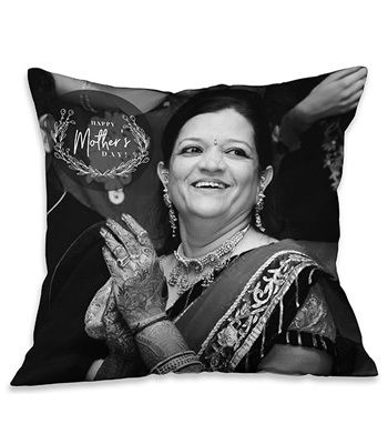 Photo Cushions For Mother - Black & White
