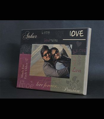 Personalized Printed Love Plaque (Frame Design)