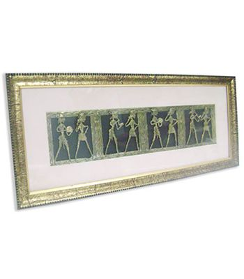 Handcrafted Brass Panel in Antique Finish Frame