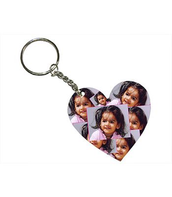 Heart Shape Wooden Keychains