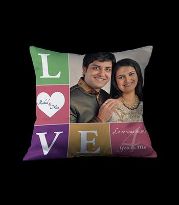 Love, Quote and Photo cushion