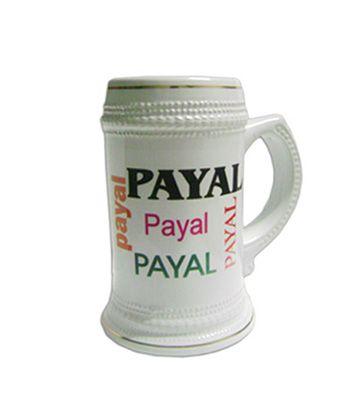 Name Collage Beer Mug