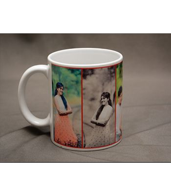 Photo mug - 5 pics Vertical Collage