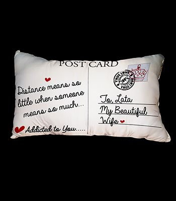 Post card pillow cover