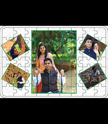 Wooden Puzzle: 5 Pic Collage