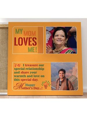 Customized Canvas. Design - Mom Loves me.