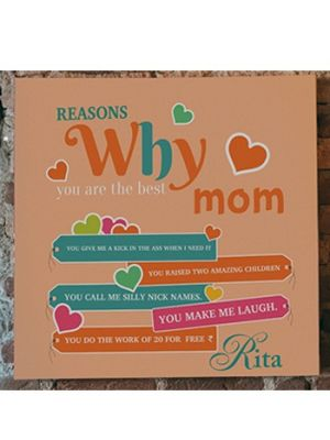 Custom made canvas for mother, Baroda