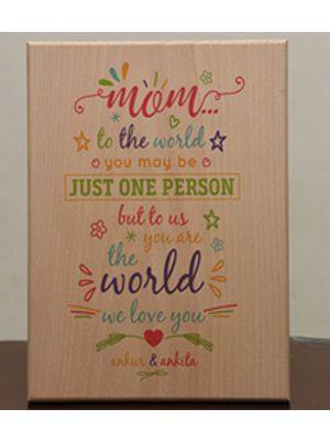 Print On Wood: Whole World