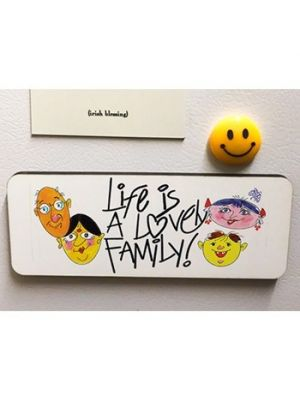 Rectangle Magnet. Design - I Love My Family