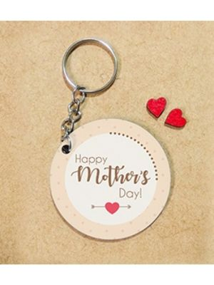 Photo Key Chain: Round Design - Happy Mother's Day