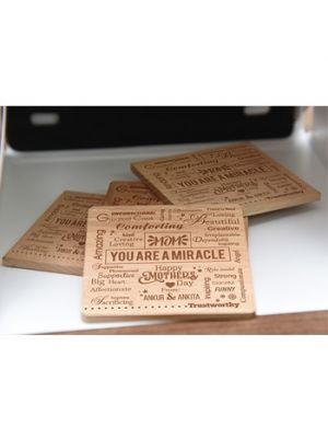 Engraved Coaster for mom - Ahmedabad