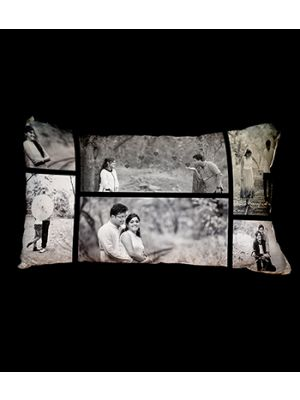 Black and White  Photo Collage Cushion