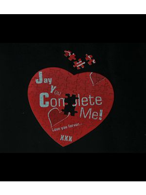 Heart Shape Puzzle (Design:You Complete Me )
