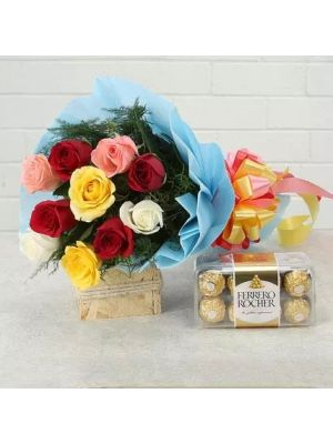 Mix Roses With Chocolates