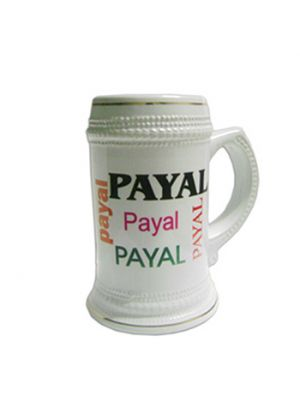Name Collage Beer Mug