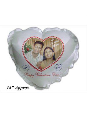 Heart Shape White Pillows