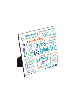 Word Collage Wooden Panel. Design - Miracle