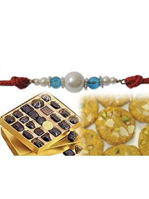 Sweets and pearl rakhi online Ahmedabad