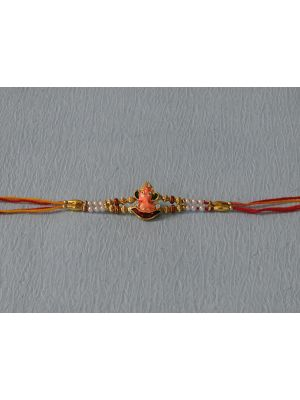 Gold Plated Rakhi With Ganeshji